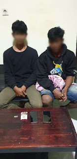Sat Res Narkoba Amankan 2 Orang Pemuda Karena Kedapatan Membawa Shabu