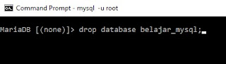 Drop database mysql ~ tentangit.com
