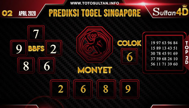 PREDIKSI TOGEL SINGAPORE SULTAN4D 02 APRIL 2020