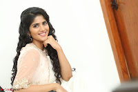 Megha Akash in beautiful Cream Transparent Anarkali Dress at Pre release function of Movie LIE ~ Celebrities Galleries 103.JPG