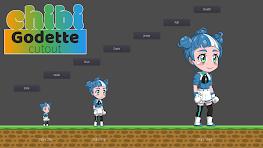 Chibi Godette Cutout Screenshot 1