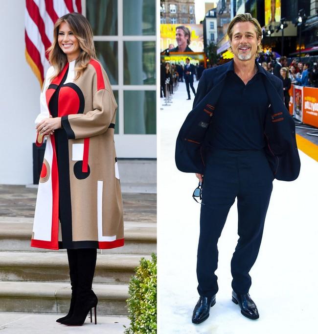 Melania Trump e Brad Pitt: 1,80 m