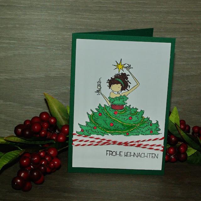 [DIY] Weihnachtliche Champagnergrüße im Tannenbaumkleid