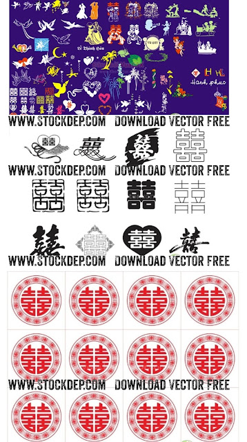 Tải 100 mẫu song hỷ vector Miễn phí file corel