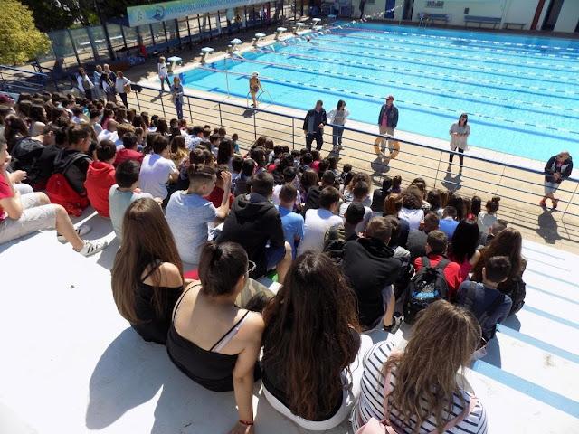 Επίσκεψη 1ου Γυμνασίου Άνω Λιοσίων στο Κολυμβητήριο