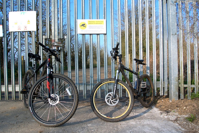 bikes leant against a gate CCTV