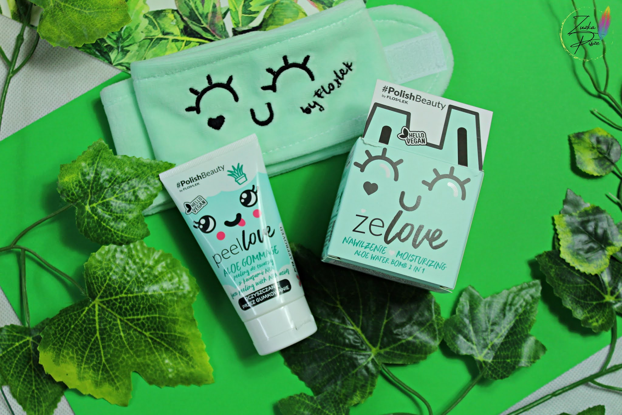 FLOSLEK #PolishBeauty - aloesowa pielęgnacja twarzy produktami ZELOVE & PEELLOVE
