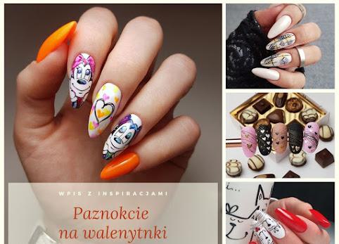 Walentynkowe paznokcie, paznokcie na walentynki - zdjęcia. Dużo inspiracji.