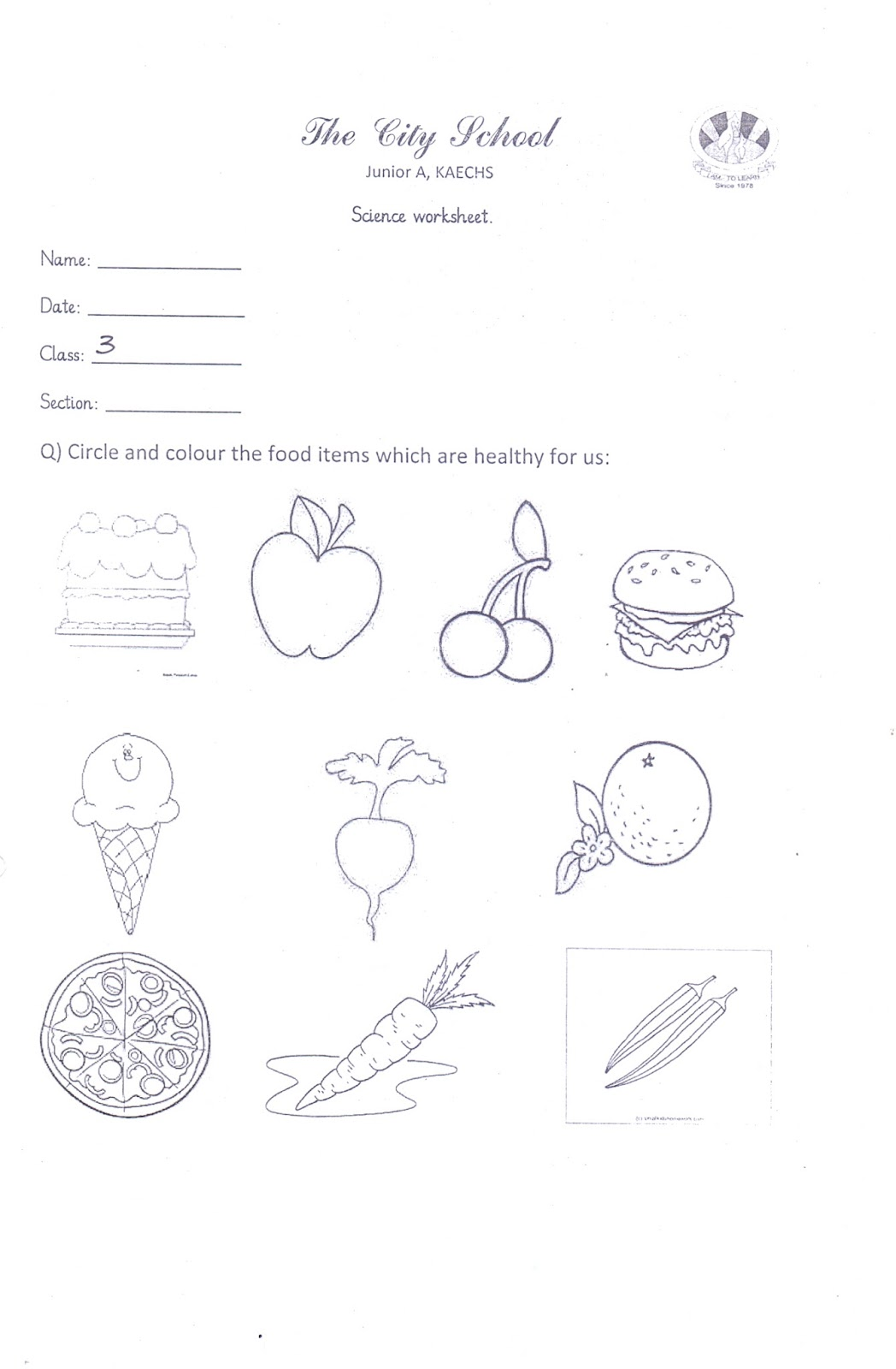 2nd Term 2016-17 Worksheet # 3