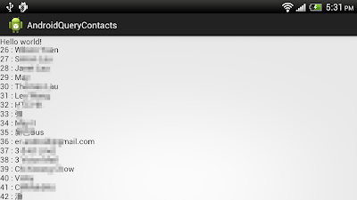 Query Contacts database