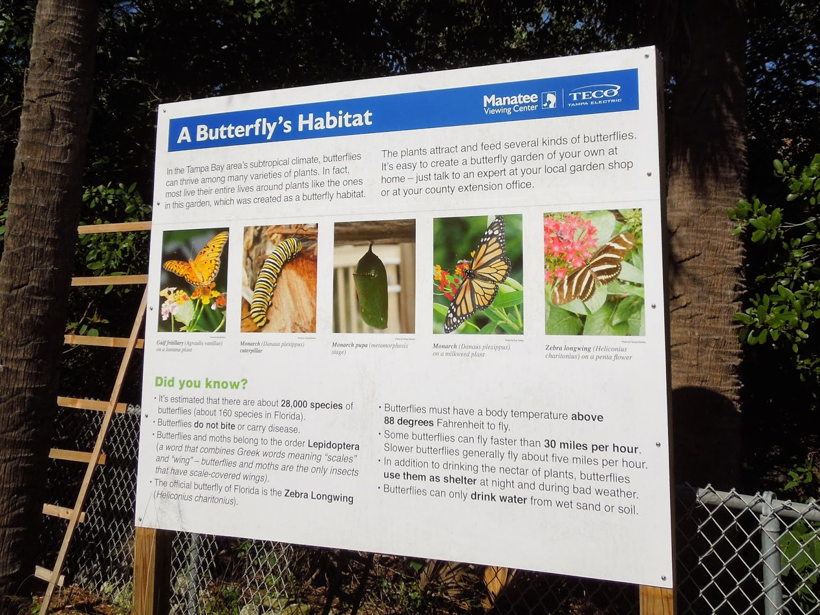 butterfly habitat sign