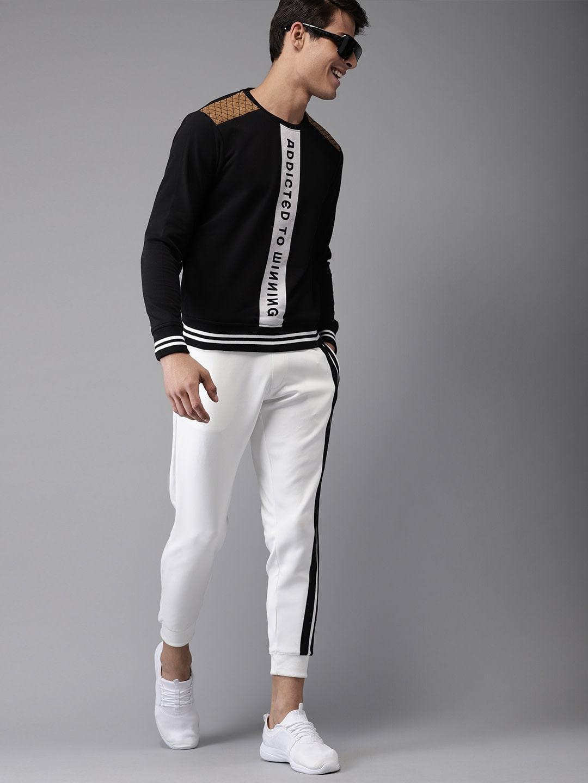 Black Printed Sweatshirt By Here&Now