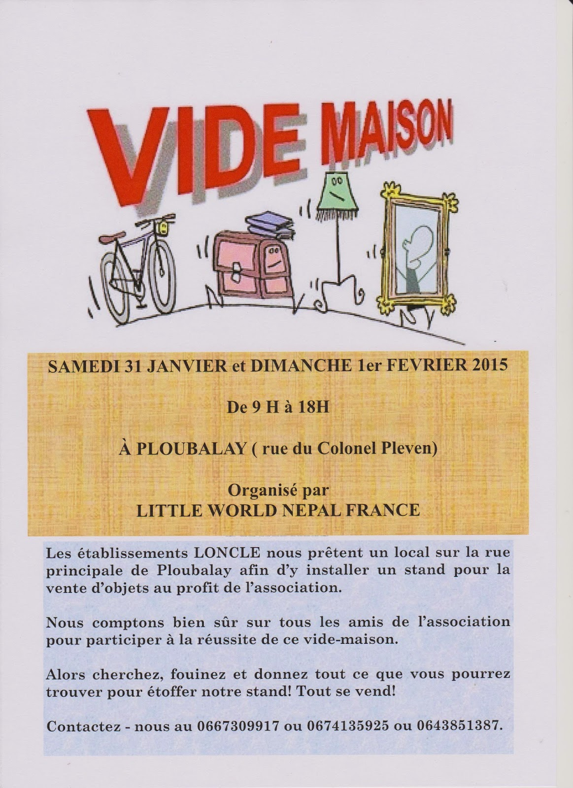Modele Affiche Pour Vide Maison Little World Népal France Vide Maison A Ploubalay Ce Week End