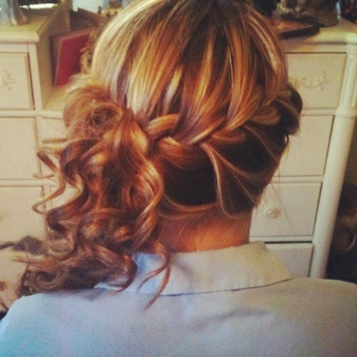 Cute hair style for fall! just because its getting colder doesn't mean you cant have your hair up! :)