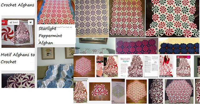 Crochet Versions of Starlight or Peppermint Crochet afghan pattern