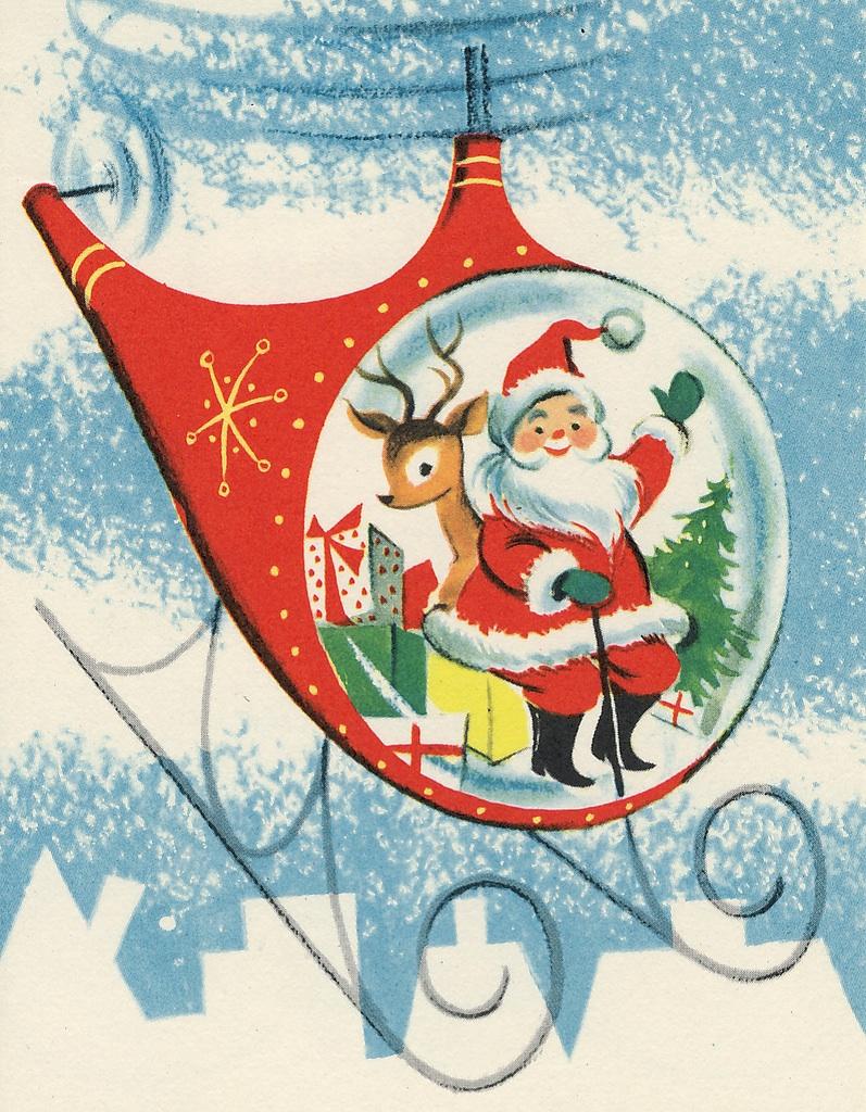 Vintage Santa Claus Coming Town