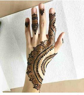 Dubai Style Mehndi Design