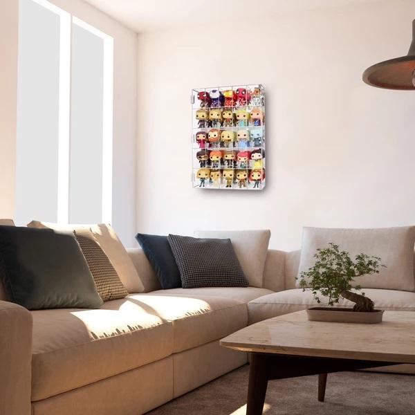 Acrylic Display Rack on the living room wall
