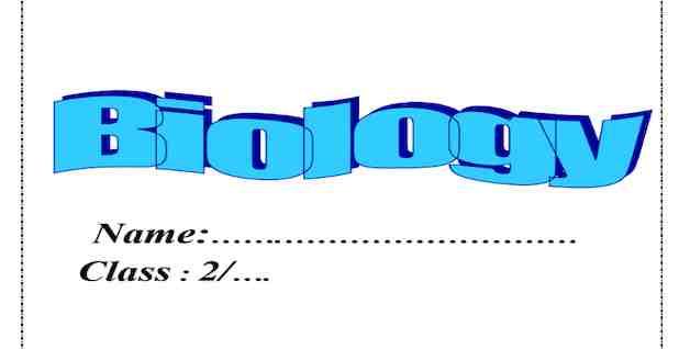 تحميل مذكرة بيولوجى Biology للصف الثاني الثانوي لغات الترم الأول 2021