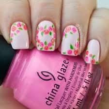 Nail Pink Rose Art