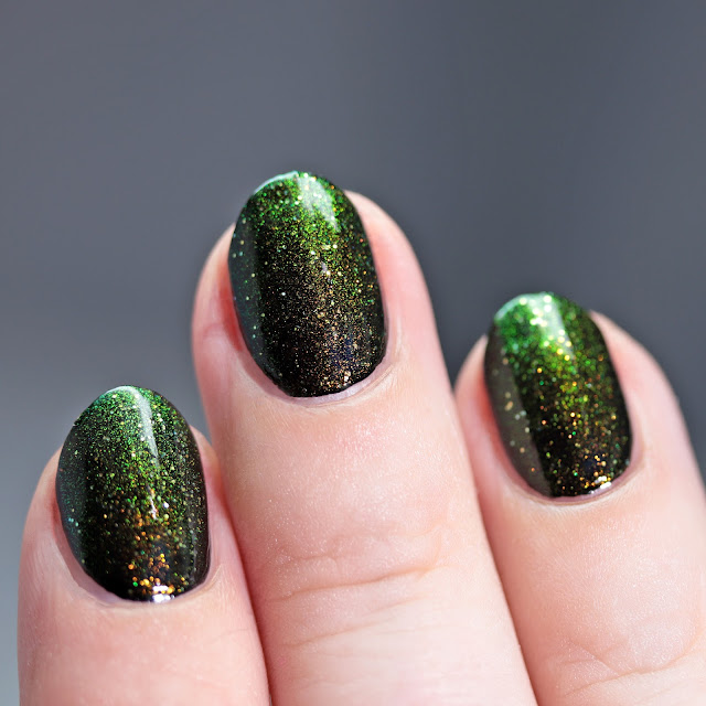 Starlight Polish Dragon Wishes over black