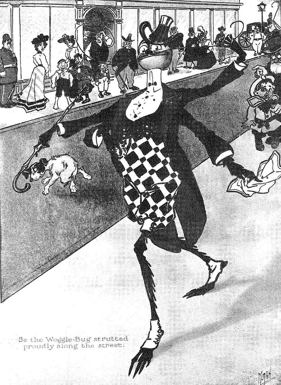 So the Woggle-Bug strutted proudly along the street, Ike Morgan 1905