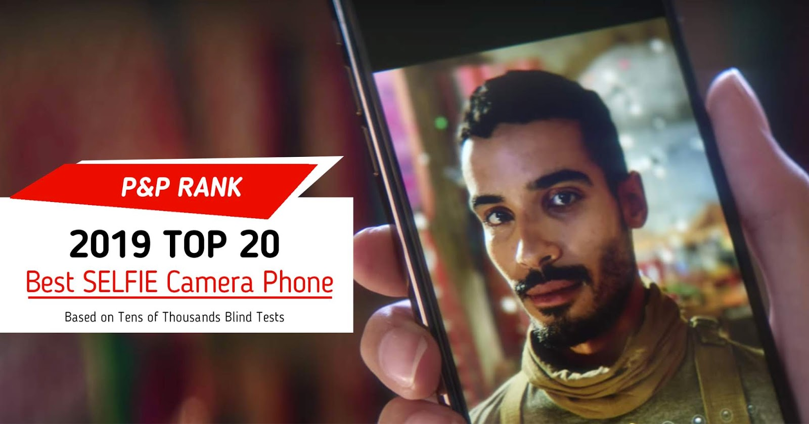 Based on 151,093 Blind tests. The P&P Rank offers Best Camera Phone and Best Selfie Camera Top 20 based on tens of thousands blind tests