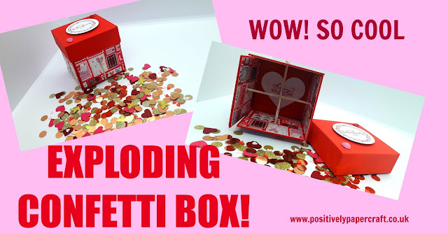 Positivelypapercraft exploding confetti box