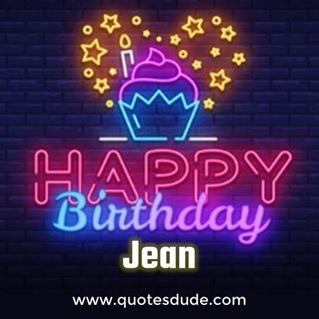 Happy Birthday Jean Message, Quotes & Cake Images