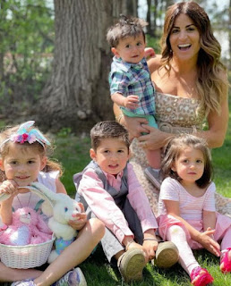 Alison Victoria with her nephews and nieces
