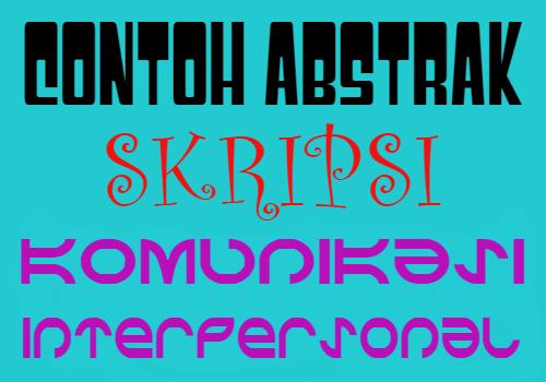 contoh-abstrak-skripsi-tentang-komunikasi-interpersonal