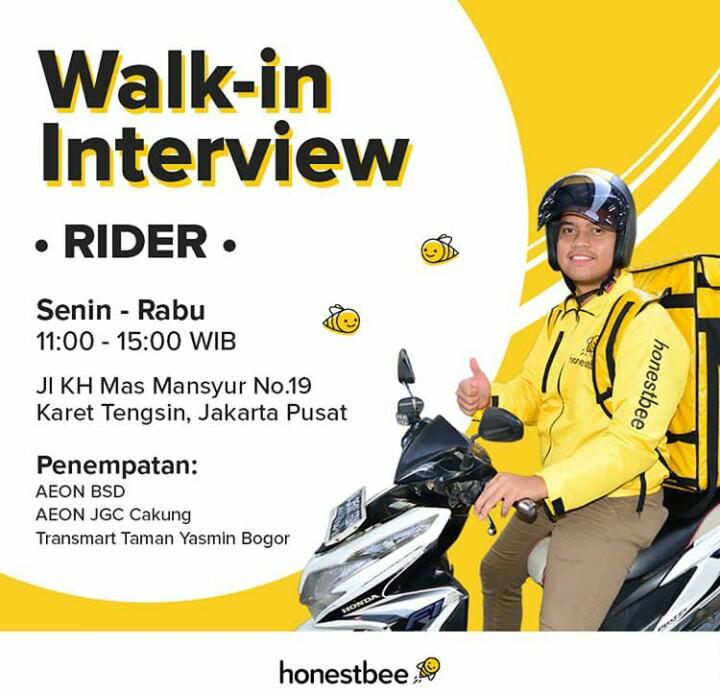Walk In Interview Kurir Dan Shopper di Honestbee Indonesia
