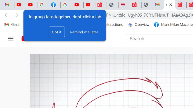 Google Chrome Group Tabs