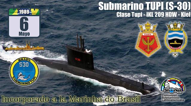 "SUBMARINO (S-30) ""TUPI"" MARINA DEL BRASI"