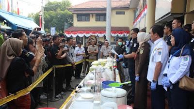 Peringati HANI 2019, Polres Jakbar Musnahkan 138 Kg Sabu dan 10.382 Pil Ekstasi