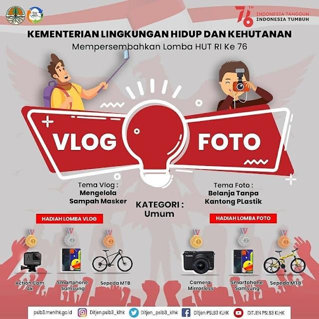 Lomba Vlog dan Foto Berhadiah Smartphone Samsung oleh KLHK