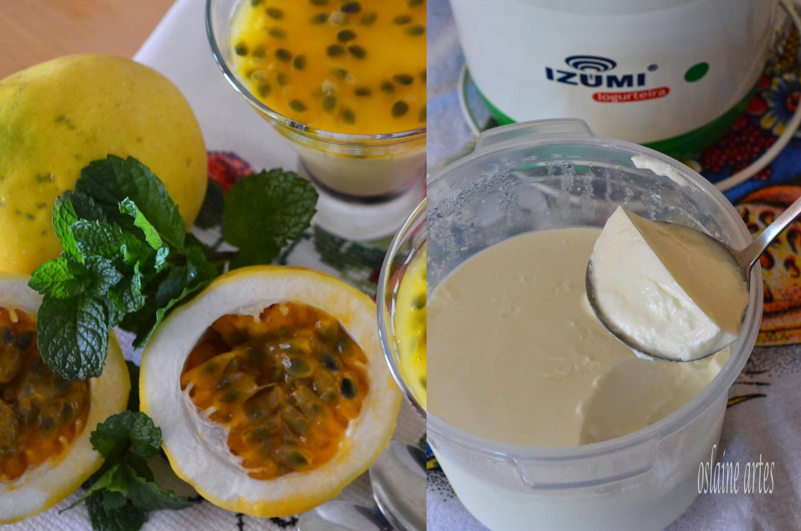 Mousse de Maracujá com Iogurte Natural