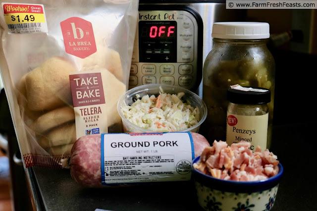 ingredients used to make Instant Pot® Pickled Pork Sliders