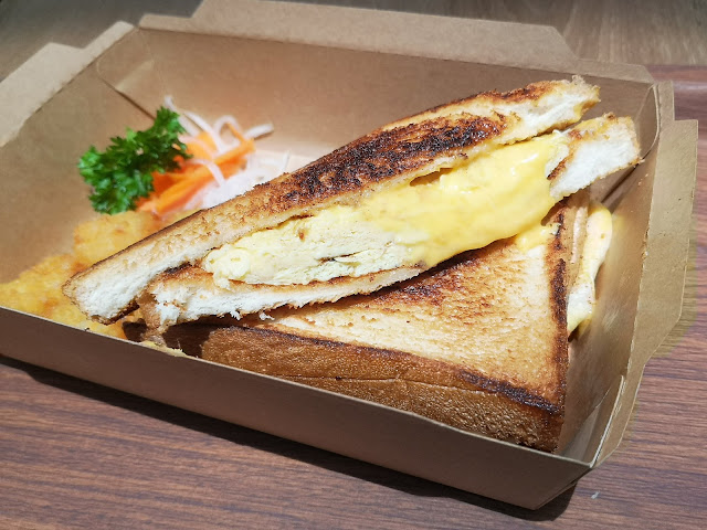 Japanese Egg Omelette and Cheddar Cheese Toastie