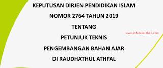 Juknis Pengembangan Bahan Ajar RA SK Dirjen Pendis 2764 Tahun 2019