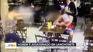 Vídeo mostra quando homem é morto a tiros e mulher tenta impedir atirador