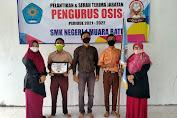 SMKN 1 Muara Batu Aceh Utara Gelar  Sertijab dan pelantikan Pengurus OSIS