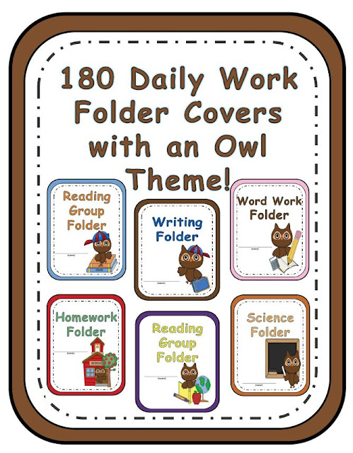 Fern Smith's Classroom Ideas Owl Daily Word Folder Covers at TeacherspayTeachers.