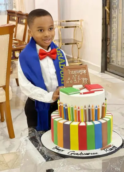 I am very Proud of You- Tonto Dikeh says as she celebrates her Son who moved to an higher class (Photos)
