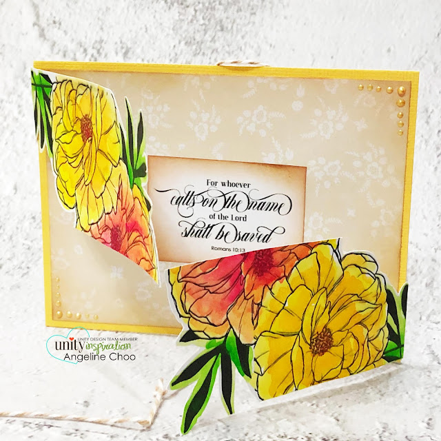 ScrappyScrappy: March Floral Frenzy Unity Stamp release - I shall not want #scrappyscrappy #unitystampco #cardmaking #card #papercraft #handmadecard #youtube #quicktipvideo #gracielliedesigns #ishallnotwant #bibleart #biblestamp #faithart #documentedfaith #trendytwine #janedavenport #watercolorpainting #janedavenportwatercolor #floralstamp #foldcard #largestamp #nuvodreamdrops