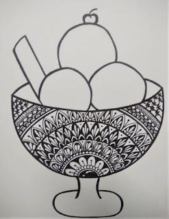 doodle mandala art drawing