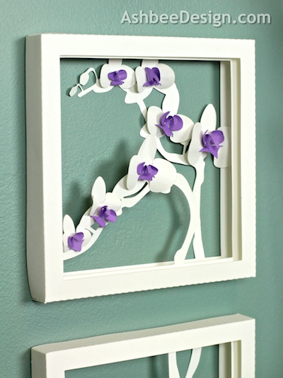 The Elegance Of The Plain White Shadow Box But Also Once With The Flower Centers Colored Both Are Stunning And You Get To Decide Which You Like Best