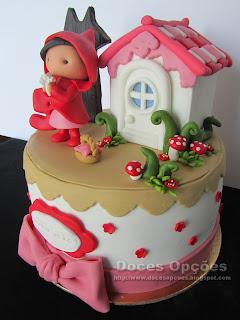 bolo aniversário decorado casa bragança capuchinho vermelho lobo