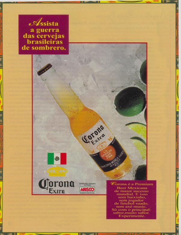Propaganda antiga da Cerveja Corona veiculada em 1997