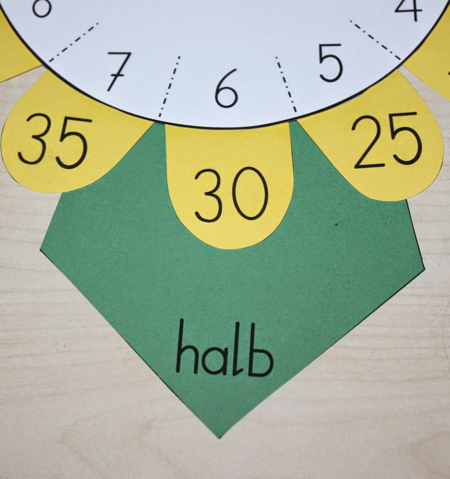Bastelvorlage Uhr 20 Klassenkunst